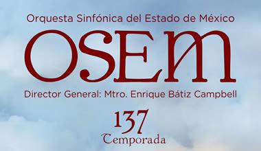 Melani Mestre, un dels protagonistes de la 137 temporada de l'Orquestra Simfónica Estat de Mèxic